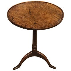 Primitive Oak, 18th Century Tripod Table