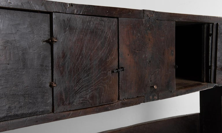 18th Century and Earlier Primitive Oak Bench, France, 19th Century For Sale