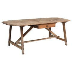 Primitive Oval Table, Italy, 18th Century