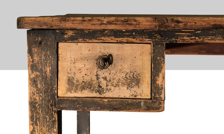 French Primitive Painted Desk For Sale