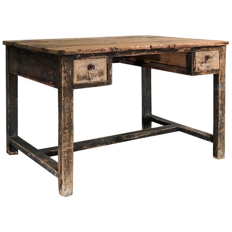 Primitive Painted Desk For Sale