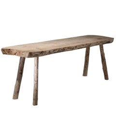 Primitive Pine Console Table