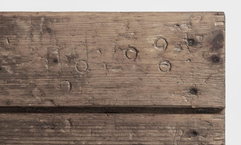 19th Century Primitive Pottery Table, France, circa 1880 For Sale