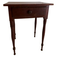 Primitive Red Working Table