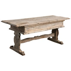 Primitive Refectory Table, Italy, 17th Century