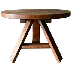 Primitive Round Dining or Center Table