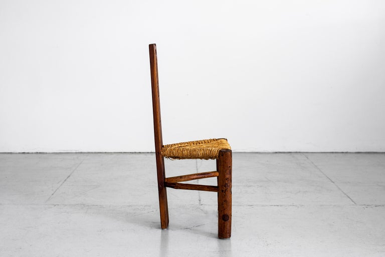 French Primitive Rushed Chair For Sale