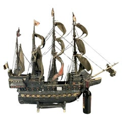 Early 20th Century Ship Model of a Galleon