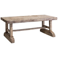 Primitive Slab Table France, 18th Century