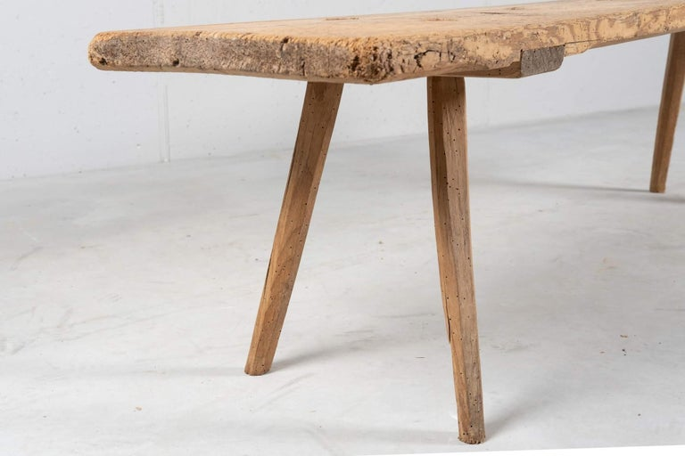 Primitive Solid Spruce Bench, Italy, circa 1700 In Excellent Condition For Sale In New York, NY