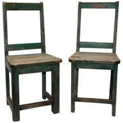 Primitive Spanish Folk Art Chairs, 20th Century