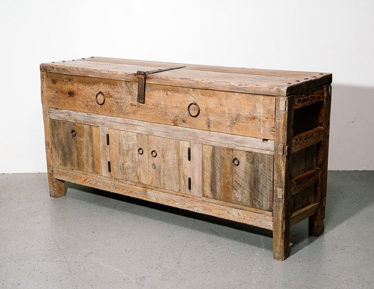 Primitive Style Credenza or Sideboard In Good Condition In Brooklyn, NY