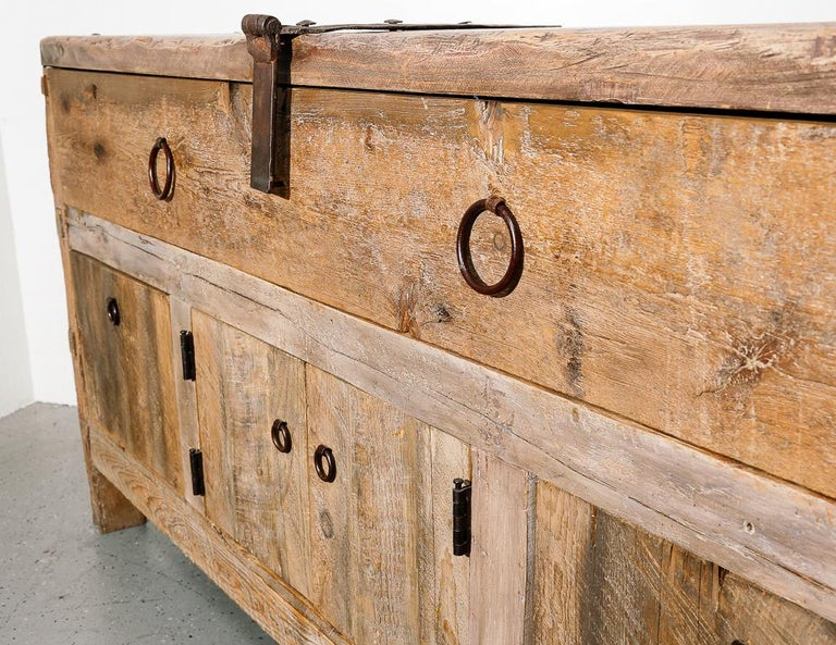 20th Century Primitive Style Credenza or Sideboard