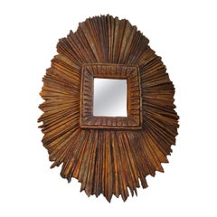 Primitive Sunburst Mirror