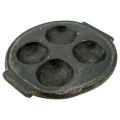 Primitive Taino Cohoba Black Stone Palette Dish Bowl Ashtray Relief Sculpture