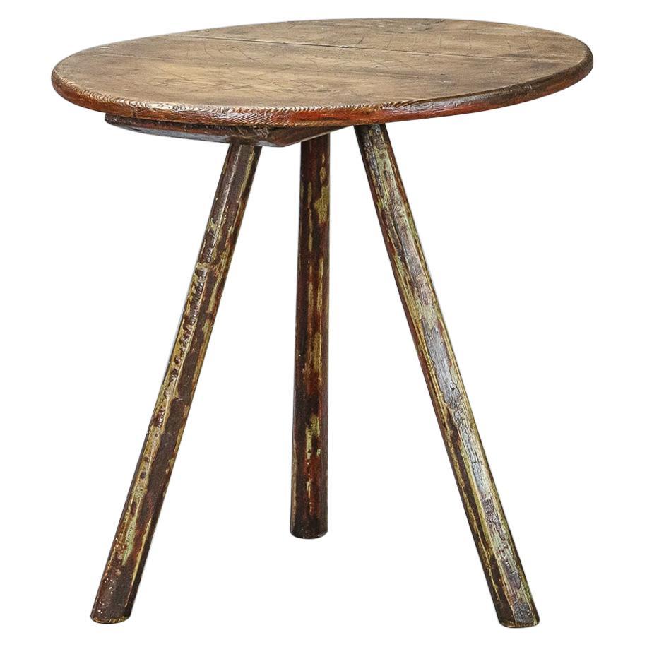 Primitive Welsh 19th Century Cricket Table