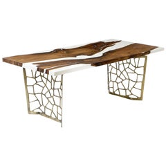 Primitive White 200 Epoxy Resin Dining Table