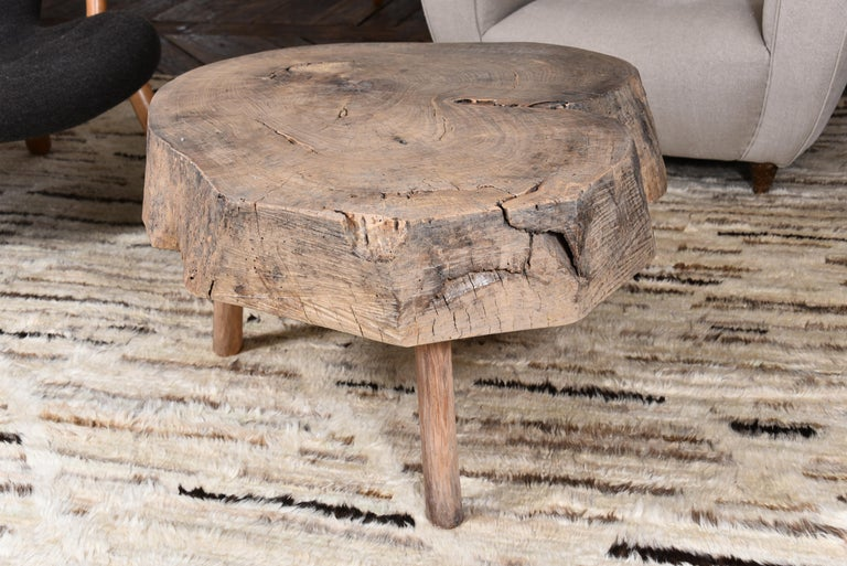 19th Century Primitive Wood Table For Sale