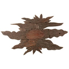 Rustic Wood Wall Sculpture or Primitive Panel