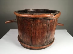 Primitive Wood Water Bucket, French 18th C.