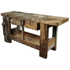 Primitive Work Console from France, circa 1940
