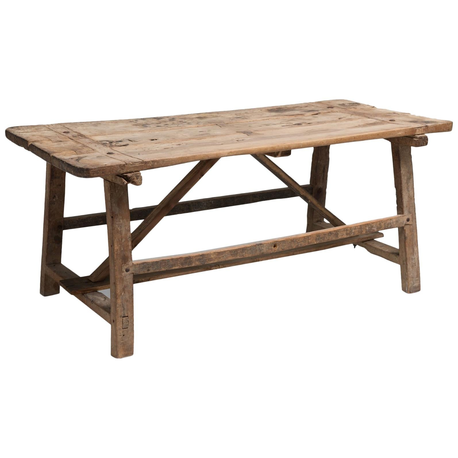 Primitive Work Table, Italy, 18th Century