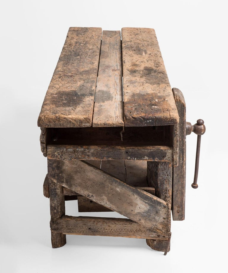 English Primitive Workbench, England, 19th Century For Sale