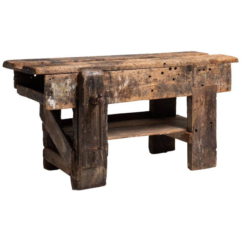 Primitive Workbench, England, 19th Century For Sale