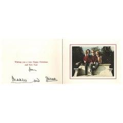 Prince Charles and Princess Diana Signed 1990 Royal Christmas Card