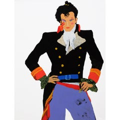 'Prince Charming' Adam Ant Portrait Painting by Alan Fears, 1980s