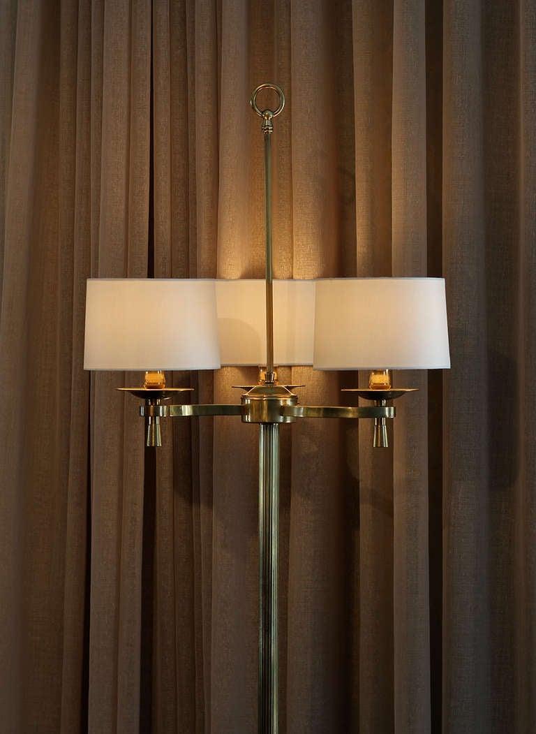 Mid-20th Century Prince de Galles Hotel Art Deco Floor Lamps Paris circa 1940  For Sale