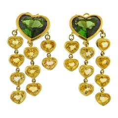 Prince Dimitri Tourmaline Yellow Sapphire Gold Earrings