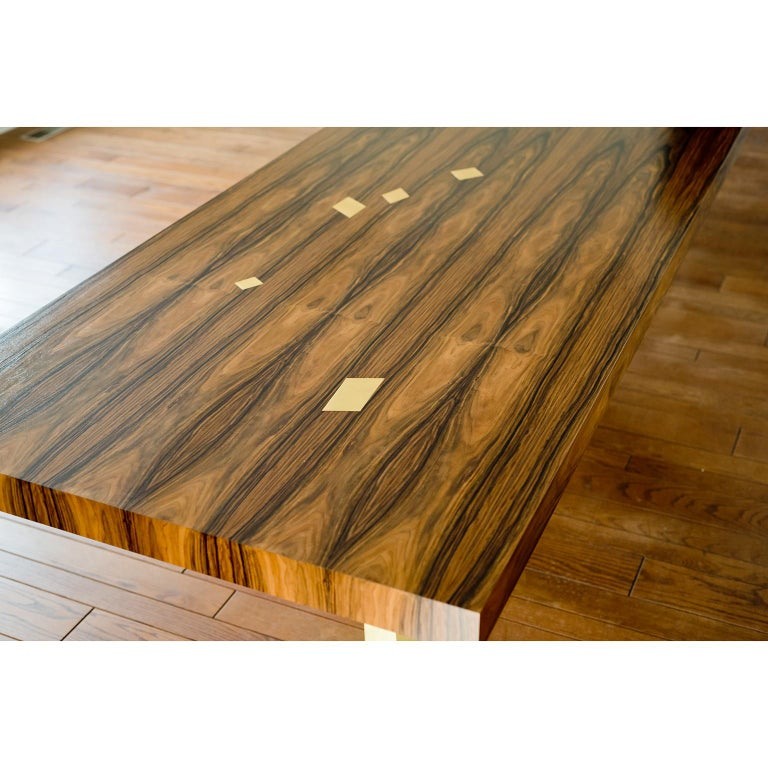 Gilt Prince Dining Table, Contemporary, Rosewood and Gold Leaf, by Dean and Dahl For Sale