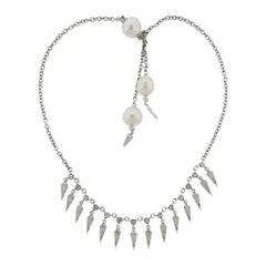 Prince Dimitri South Sea Pearl Diamond Fringe Necklace