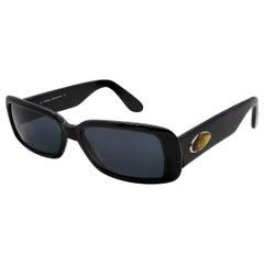 Prince Egon von Furstenberg black rectangular sunglasses