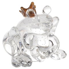 Prince Frog Small color Clear, in Glass, Italy