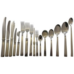 Prince Harald by Marthinsen Norway 830 Silver Flatware Set Service 133 Pc Modern