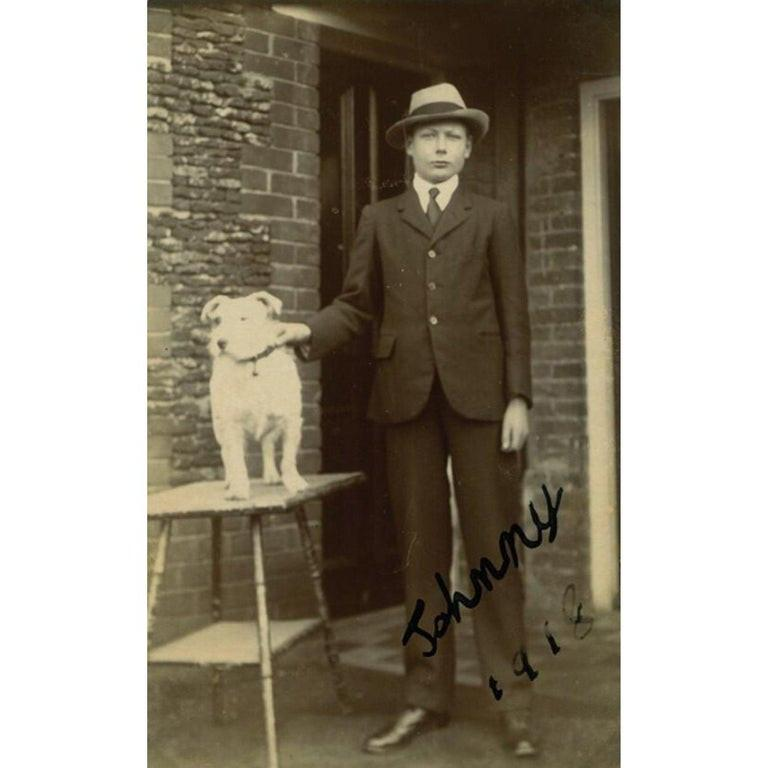 Prince John Vintage 1918 Signed Black and White Photograph In Good Condition For Sale In Jersey, GB