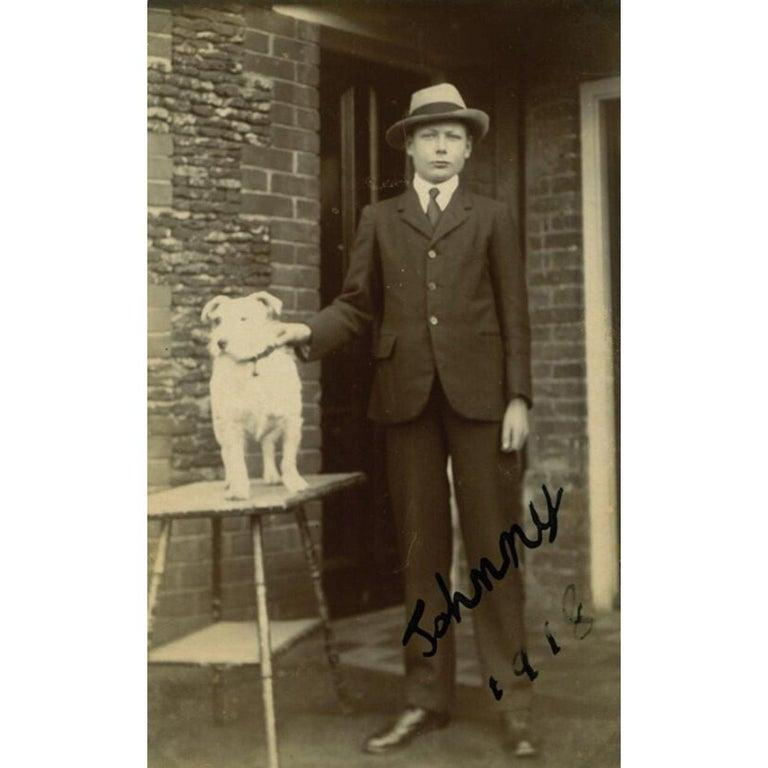 20th Century Prince John Vintage 1918 Signed Black and White Photograph For Sale