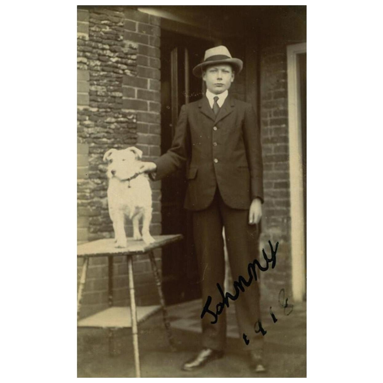Prince John Vintage 1918 Signed Black and White Photograph