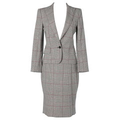 Prince of Wales pattern Skirt Suit Dolce & Gabbana