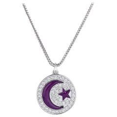Prince's Amethyst Crescent Moon Pendant