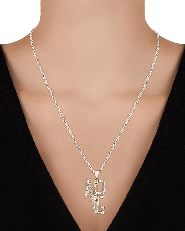 Round Cut Prince's New Power Generation Diamond Necklace For Sale