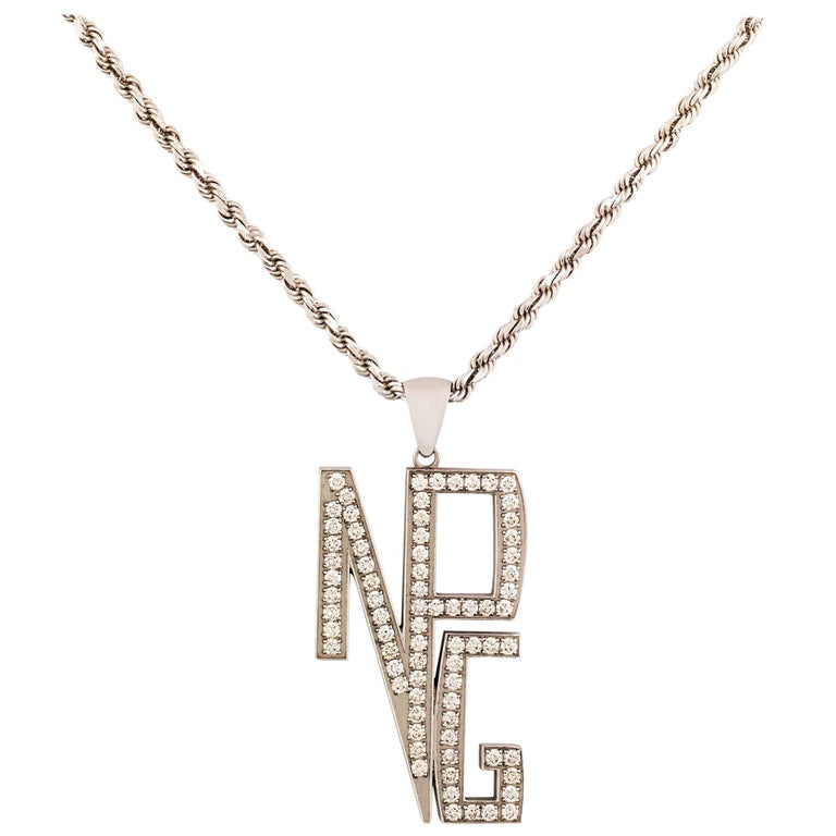 Prince's New Power Generation Diamond Necklace For Sale