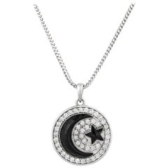 Prince's Onyx Crescent Moon Pendant