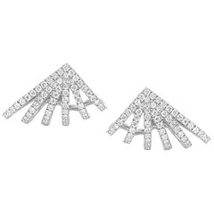 Princess and Pear Diamond Floating Chain Stud, Gold, Ben Dannie