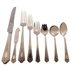 Princess by Manchester Sterling Silver Flatware Set Service 86 Pcs Dinner