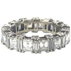 Princess Cut and Baguette Cut Diamond Eternity Ring