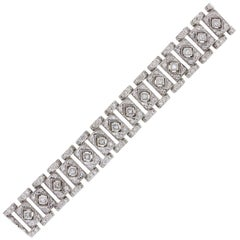 Princess Cut and Round Brilliant Diamond Bezel Set Bracelet
