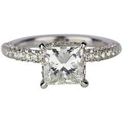 Princess Cut Center Stone Diamond Studded Weighing in 4.20 Grams 18 Karat Gold